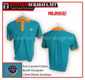 Desain Poloshirt Client Disnav Surabaya
