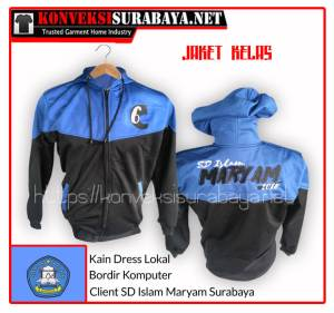 Desain Jaket Client SD Islam Maryam Surabaya