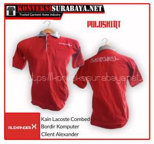 Desain Poloshirt Client Alexander