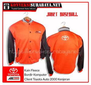 Bordir Jaket Fleece Keren di Surabaya