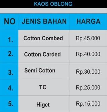 Daftar Harga Kaos Sablon di Surabaya