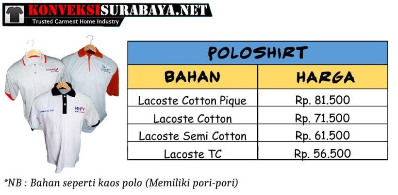 Harga Kaos Poloshirt